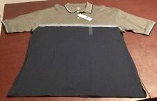 New With Tags Mens Dockers Golf Polo Shirt Size Xl Retail $42 Gray Blue