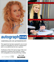 NICOLE KIDMAN signed Autographed 8X10 PHOTO - PROOF - Hot SEXY Gorgeous ACOA COA