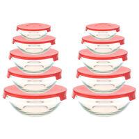 20 tlg. Vorratsdosen Glas Set Aufbewahrungsdosen Frischhaltedosen mit Deckel