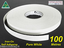 White Melamine Edge Tape 21mm x 100m Pre-Glued Iron On Veneer Edging Laminate
