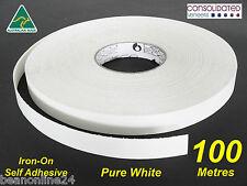 White Melamine Edge Tape 21mm x 100m Pre-Glued Iron On Veneer Edging Laminate
