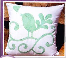 PATTERN - My Singing Love Birds cushion - pieced & applique pillow PATTERN