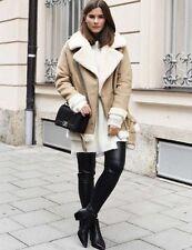 Zara Wool Patternless Casual Coats & Jackets for Women