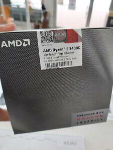 AMD Ryzen 5 3400G 3,7 GHz  Quad-Core (YD3400C5FHBOX) Processore