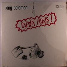 KING SOLOMON: Energy Crisis! LP (shrink) rare Soul