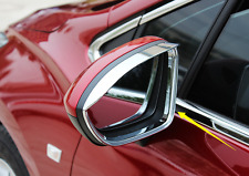 2x ABS Chrome Side Rear View Mirror Sun Rain Visor For Chevrolet Cruze 2017-2018