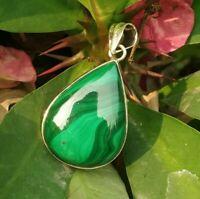 Malachite Pendant,Sterling Silver,Scorpio Birthstone Pendant,Dainty Pendant,Gift