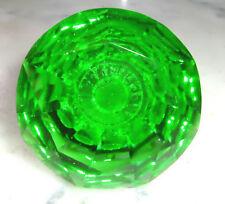 drawer & cupboard pulls door knobs  Glass medium green crystal cut glass 40 mm