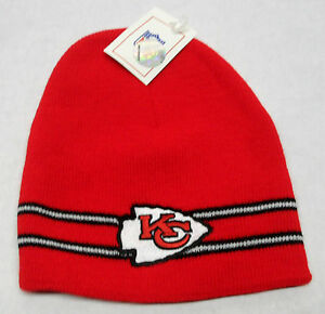 NFL Kansas City Chiefs Winter Knit Hat Cap OSFM NEW!!