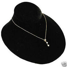 Single Black Velvet Jewelry Display Bust Pendants & Necklaces Neck Forms