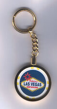 Welcome To Fabulous Las Vegas Casino Chip Key Chain Ring Keychain