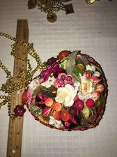 Kimchi Blu Purse By Mary Frances Designer - Prototype, Fruit Flowers Velvet