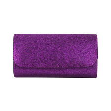 Premium Small Metallic Glitter Flap Clutch Evening Bag Handbag - Diff Colors