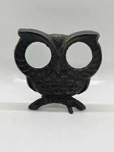 Owl Magnifying Glass - Cast Iron Desktop Magnifier - Desk Office Bird Figurine