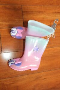 NWT GIRLS DISNEY STORE SZ 9 RAIN BOOTS MINNIE MOUSE