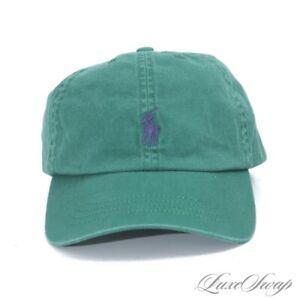 NWT Polo Ralph Lauren Jungle Green Washed Twill Blue Pony Baseball Hat Cap NR