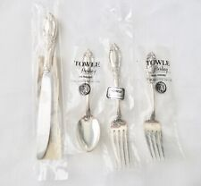 """Towle """"King Richard"""" Sterling Flatware 4 Piece Place Set - New in Orig Poly"""