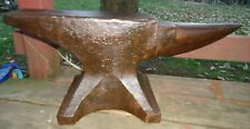 ANTIQUE 1860-1888 TRENTON SOLID WROUGHT ANVIL,131 POUNDS,BLACKSMITH,FORGE