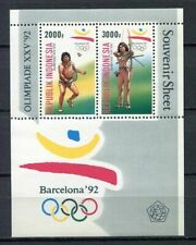 38374) INDONESIA 1992 MNH** Olympic games s/s