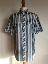 Men's Striped Short Sleeve Shirt by Next Size Small Cheap Spring/Summer