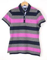 Tommy Hilfiger Damen Freizeit Polohemd Hemd T-Shirt Größe L BCZ745