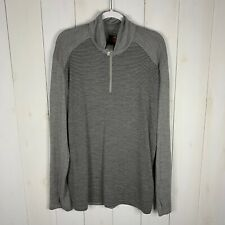 Icebreaker Merino 260 Bodyfit Mens Gray Size Xxl Long Sleeve 1/4 Zip Sweatshirt