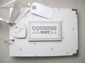PERSONALISED COUSINS. .A5 SIZE PHOTO ALBUM/SCRAPBOOK/MEMORY BOOK.