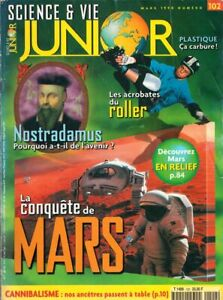 revue science et vie junior 102 mars 1998 photo mars en relief nostradamus