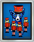 George Rodrigue Blue Dog Color Silkscreen Soldier Boy Hand Signed Framed Artwork