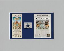 DALLAS COWBOYS  MATTED (ALL 5) SUPER BOWL REPLICA GAME TIXPICS OF SB NEWSPAPERS
