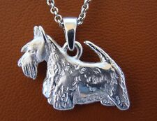 Sterling Silver Scottish Terrier Standing Study Pendant