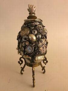 ORIGINAL ART MEMORY JAR TRAMP FOLK ART
