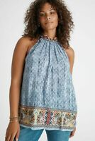 Anthropologie Bhanuni by Jyoti Plus Size 1X Women's Tank Top Embroidered