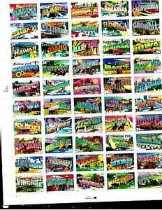 UNITED STATES : NICE  'GREETING FROM STATES'  SHEET OF 50. SEE SCANS