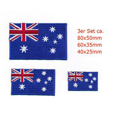 3 Australien Canberra Sydney Melbourne Flags Patches Aufnäher Aufbügler Set 0968