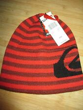 NEW* QUIKSILVER Tyrant BEANIE Cap HAT MENS OSFA S M L Red Stripes