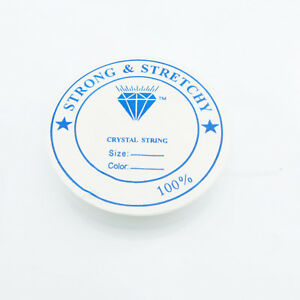 14m Silikon Band 0,5mm (0,16€ pro m) Gummi elastisch Rolle Stretch Schnur weiß