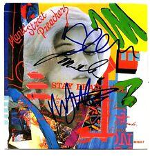 "MANIC STREET PREACHERS Signed ""Stay Beautiful"" 7 Inch Vinyl JSA #S19365"