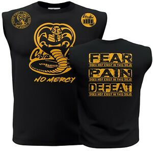 New Cool Cobra Kai No Mercy Karate kid ufc mma Adult Sleeveless Muscle Shirt t
