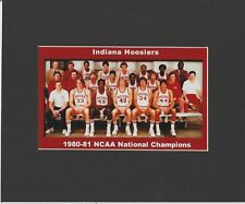 INDIANA HOOSIERS MATTED TEAM PIC OF 1980-81 NCAA BASKETBALL NATIONAL CHAMPS