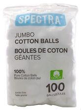 Spectra 100% Cotton Balls Jumbo 100 Count Bag