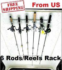 Ceiling Rod Rack Storage Reel Fishing Mount Horizontal Pole Overhead Wall Holder