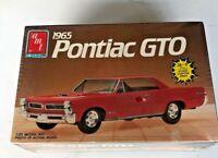 1986 Sealed AMT 1965 Pontiac GTO 3 in 1 model kit #6593 1/25 scale