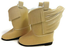 """Fringed Tan Cowboy Boot Shoes made for 18"""" American Girl Doll Clothes"""