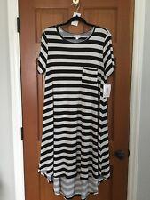 NEW Lularoe Carly XL Black and Off White Stripes