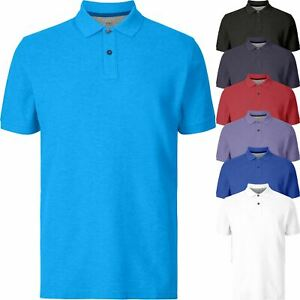 New Marks & Spencer Mens Pure Cotton Jersey Short Sleeve Polo Shirt Top S-3XL