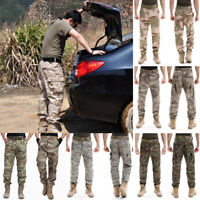 Men's Camo Cargo Work Pants Military Army Outdoor Hunting Hiking Long Trousers