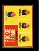1962 TOPPS #596 ALLEN/ROLLINS/LINZ/PEPITONE VGEX (RC) SP ROOKIE PARADE  *SBA2490