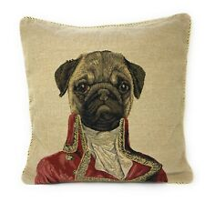 Tache 1 Pc Napoleon Pug Dog Decorative Accent Cushion Throw Pillow Cover Case
