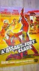 A L'ASSAUT DU FORT CLARK ! jeff chandler affiche cinema western 1954